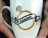 Bride - Bride To Be - Engaged - Hand Painted Coffee Mug - The Original Caricature Glasses (tm)