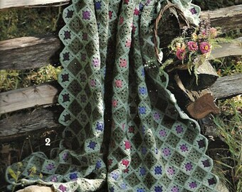 AFGHANS Down a Country Lane - 8 Fabulous Floral Afghans to Crochet, Crochet Patterns, 33-2