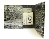 Metallic Silver Bronze Black Vegan Leather Card Holder Mini Wallet