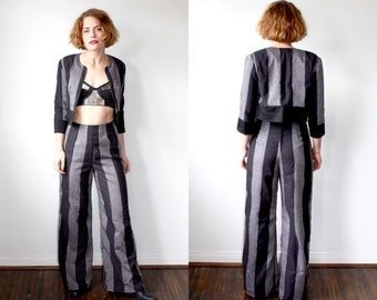 Women's Suit / Striped Pantsuit / Beetlejuice Suit Sz S
