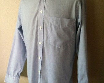 Vintage Men's 80's Christian Dior, Shirt, Striped, Long Sleeve, Button Up (L)
