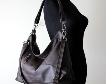 Leather purse - Soft leather hobo bag - Leather bag crossbody bag - MAX - made to order
