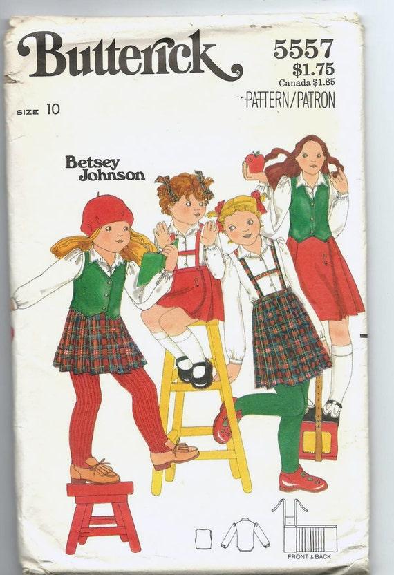 Uncut, Child Size 10, Vintage Sewing Pattern, Butterick 5557, Girl ...