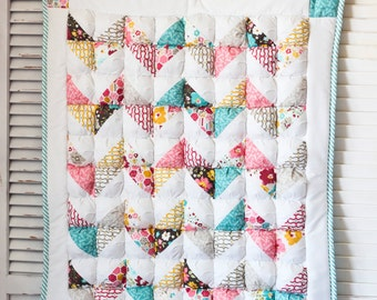 Chevron Puff Quilt Pattern PDF File