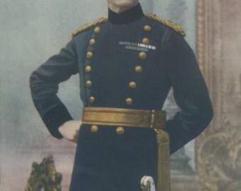 1900, Major-General Fitzroy Hart, Large Antique Print, Army 28, Military Moustache, Uniform Commander, Frameable Art