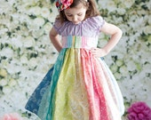 Spring Over the rainbow dress by Corinna Couture