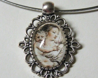 Madonna and child necklace - AP01-115