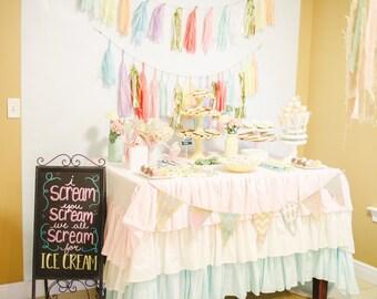 Pastel Ruffle Tablecloth