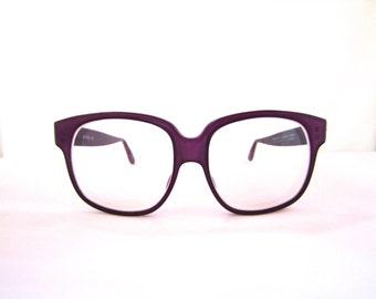 80s 90s Emmanuelle Khanh Sunglasses Womens Vintage 1980s 1990s Designer Purple Frames France
