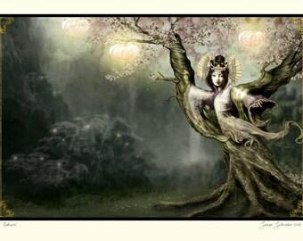 Sakura by Susan Schroder - Mythic Dryad fine art print