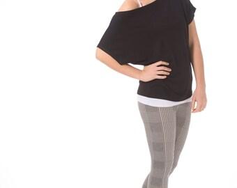 Black Tshirt- Women summer t shirt, Oversized black t shirt, Short sleeve women shirt/ Black women shirts