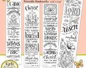 Easter Color Your Own Jesus is Alive Bible Bookmarks Bible Journaling INSTANT Download Scripture Digital Printable Christian Religious