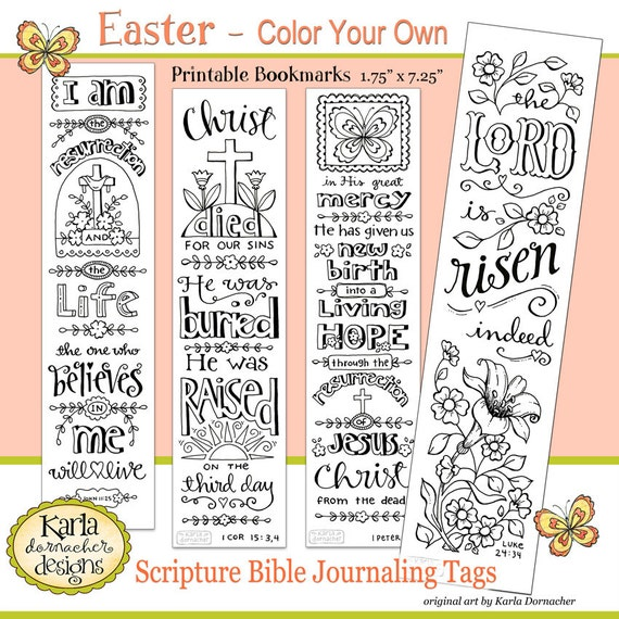 Easter color your own jesus is alive bible bookmarks bible for Religious bookmark templates