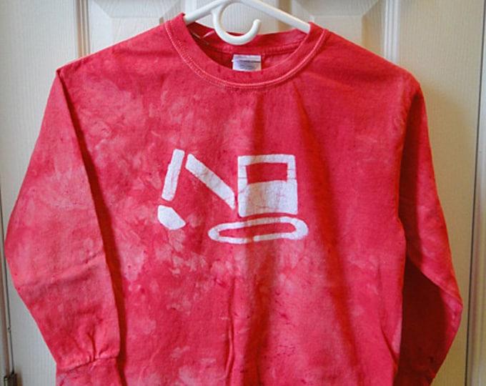 Kids Excavator Shirt, Kids Truck Shirt, Boys Truck Shirt, Girls Truck Shirt, Red Excavator Shirt, Kids Digger Shirt (Youth L)