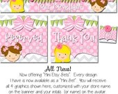Mini Etsy Banner Set - Lil Diva - Simple & Custom! Facebook Timeline Cover and Business Cards Available Too!
