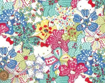Liberty Tana Lawn Fabric, Liberty Japan Limited, Mauvey Hello Kitty, Liberty Print Cotton Scrap, Kawaii Quilting, Cute Patchwork Fabric, 33f