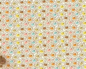 Liberty Tana Lawn Fabric - Liberty Japan Limited, Hello Kitty Wall Flower, Liberty Print Cotton Scrap, Kawaii Patchwork Fabric, ntkitty18f
