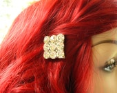 Upcycled Recycled Repurposed Diamond Hair Pin -Upcycled Jewelry, Repurposed Jewelry, Diamond Rhinestone Bling Bling, Silver Handmade Jewelry