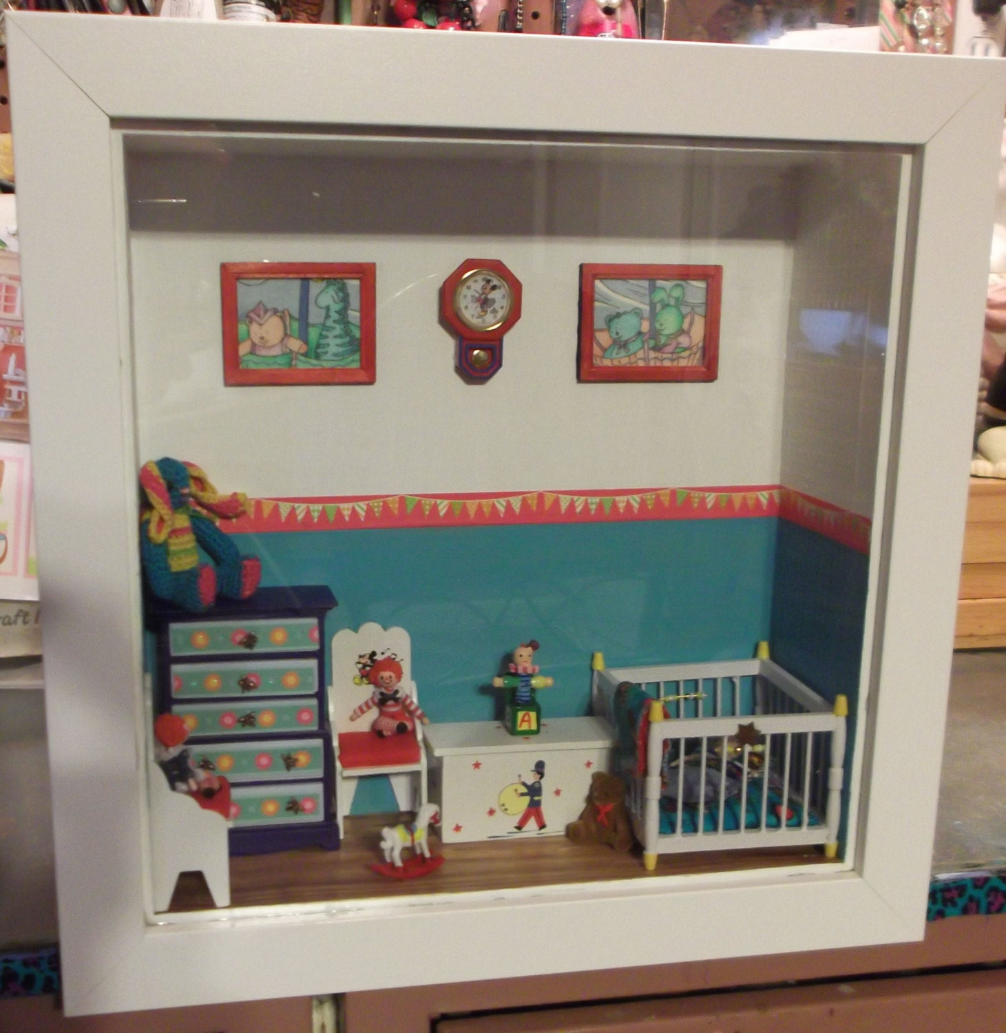 Baby Bedroom In A Box Special: Baby Boy Nursery Shadow Box By Rustybutz1 On Etsy