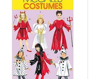 Sew & Make McCall's M5729 Sewing Pattern - Kids Angel Clown Jester Mime Costumes sz 3-6
