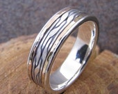 Argetium Sterling Silver and 14k Gold Inlayed Ring