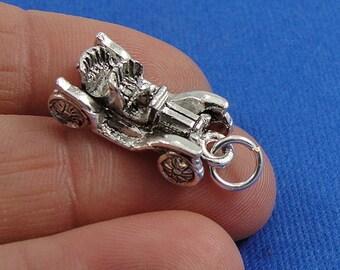 Antique Car Charm - Silver Antique Classic Car Charm for Necklace or Bracelet