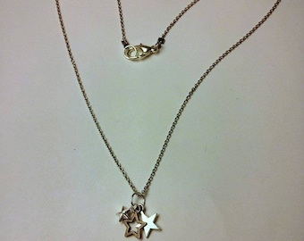 3 Star Charm Necklace