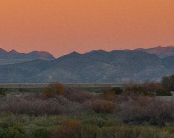 Desert Hills And Sunset