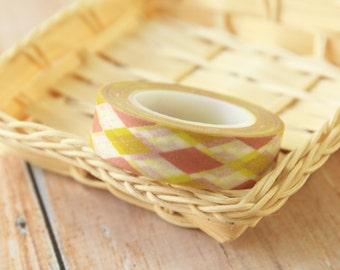 Brown ARGYLE Fancy Designs japanese washi masking tape
