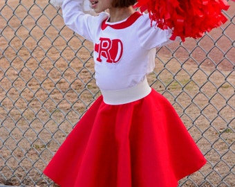 Adorable 50's style 2pc Rydell High Cheerleader Outfit Your Choice of Size Toddler.Girls or Adults! Prices from 65.00 and Up!