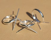 Sterling Silver Handmade Claw Ring Half Round Wire Setting 100% Sterling Silver 925 For Natural Stones or Whatever - Size 7
