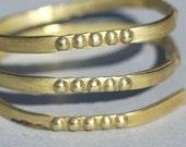 Ring Stock Shank 4.5mm Morse Code Textured Metal Cane Wire - Rings Bracelets Pendants Metalwork
