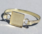 Bronze Bracelet-Ring Box or Bezel Cup Stock Shank 5mm Flourish - Resin, Stones, and other Art Work!