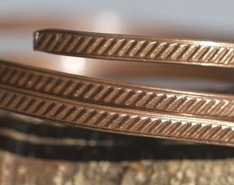 Wire Pattern Weave Stock Shank 3.4mm Textured Metal Wire - Rings Bracelets Pendants Metalwork Variety of Metals