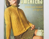1966 Bear Brand & Fleisher Yarns Sweaters to Knit and Crochet Vintage Knitting Crochet Pattern Booklet Magazine Vol. 94