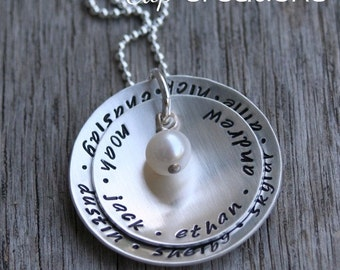 Layers of Love Hand Stamped Necklace