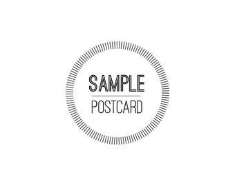Sample Save the Date Postcard