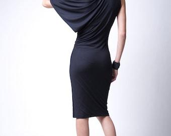 Party Dress / Fitted Dres / LBD / Designer Off Shoulder Shoulder Dress / Cocktail Dress / Shift Dress / marcellamoda - MD099