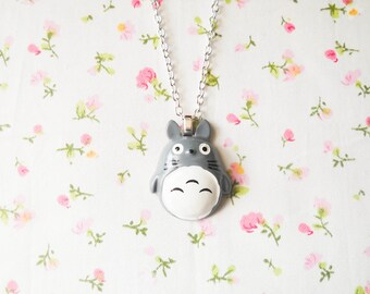 Totoro Necklace, Kawaii Necklace, Kawaii Kei, Lolita Necklace, Girls Gift, Womens Gift, Cute Necklace, Pop Kei, Harajuku, Fun Necklace