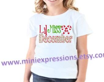 Lil Miss December shirt