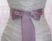 Double Face Lilac Satin Ribbon, 1.5 Inch Wde, Pale Lavender Bridal Sash, Light Purple Ribbon Sash, Wedding Belt, 4 Yards