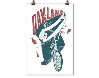 Oakland Bike Rider Print