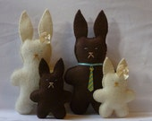 Plush bunny family brown bunnies toys gift for a child Easter bunnies custom orders available