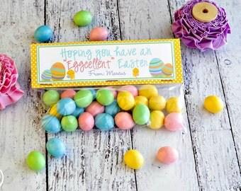 Easter Egg Treat Bag Topper / Happy Easter Treat Bag Toppers / Easter Egg Treat Bag Toppers / Spring Treat Topper / Easter Egg Treat