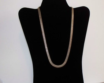 Vintage Napier Silver-tone Herringbone Necklace - Item 881-1