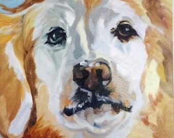 Custom Furry Friend Dog Portrait