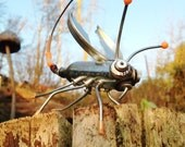 Scrap Metal Bug, Insect, Creature, Small Sculpture, Unusual Christmas Gift idea, Recycled, Upcycled, Quirky Character, Mixed Media Art