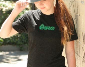 St. Patrick's Day Irish Tee Shirt, Eire, Ireland , Unisex Black Ireland Tee Shirt Small , Irish Women's