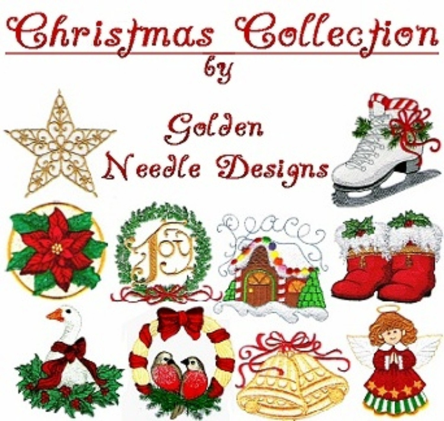 Christmas collection machine embroidery designs