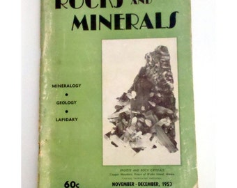 1953 Rocks & Minerals Magazine, Vol. 28 No. 11-12, Official Journal of the RMA, Mineralogy, Geology, Lapidary, November-December